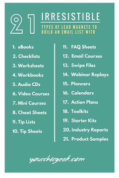 21 Types of Lead Magnets to Launch Your Site With