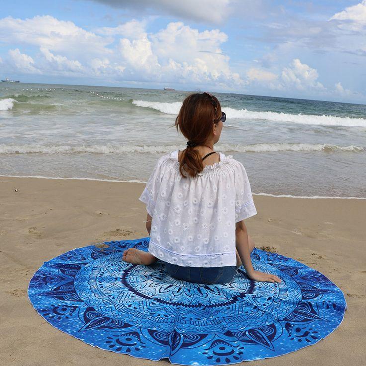 2016 Summer Beach Towel Totem Printed Round Travelling Circle Beach Towel Serviette Reactive Printing Towels