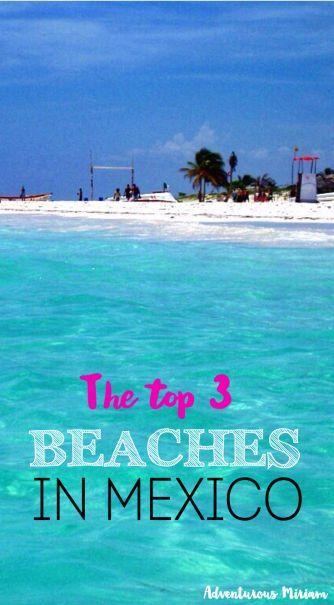 The top 3 beaches in Yucatan, Mexico. Gorgeous and pristine beaches.