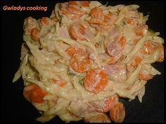 Pâtes au jambon, courgettes, carottes et St Môret - cookeo