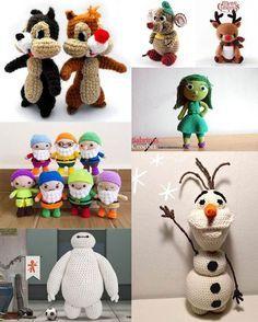 Vi elsker tegnefilm og mon ikke disse 8 hæklede Disney figurer vil bringe et smil frem hos børnene...og måske de voksne?