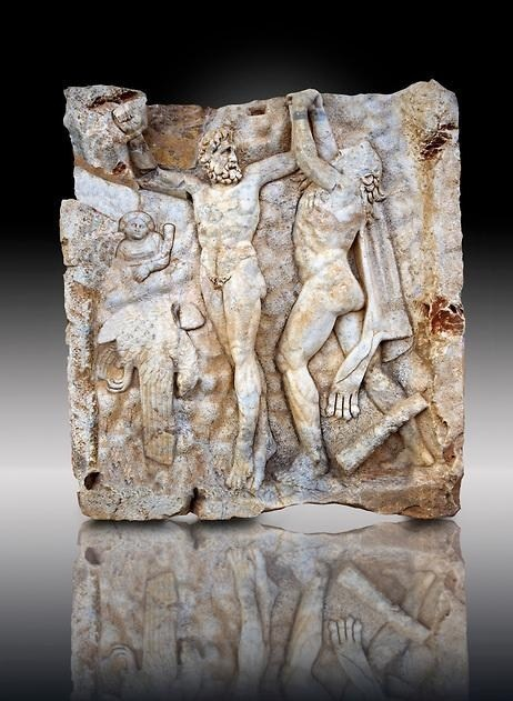 Promethus Freed By Hercules [Roman Relief From Aphrodisias, Turkey]
