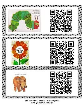 Eric Carle Audiobook QR codes - Listening Center