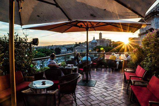 Rooftop terrace bar with a FANTASTIC view!!