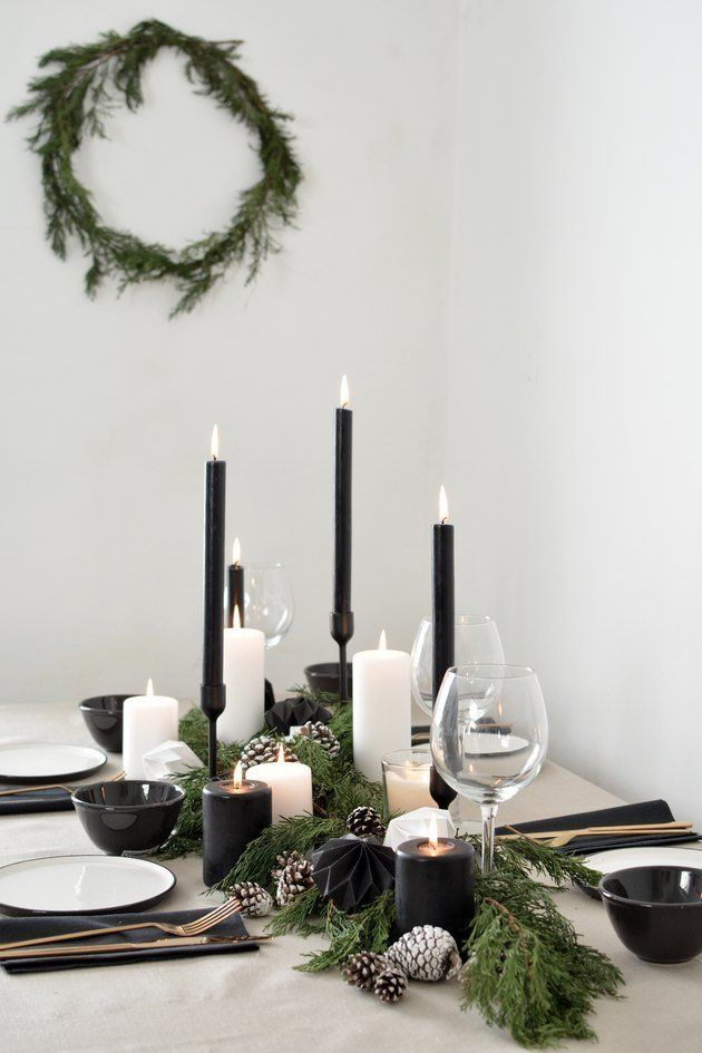 28 Modern Holiday Diys To Decorate Your Tree Table And More Holiday Table Decorations Christmas Table Decorations Christmas Table Settings