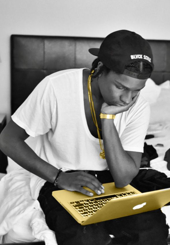 A$AP Rocky❤️❤️❤️that's a dope azz computer