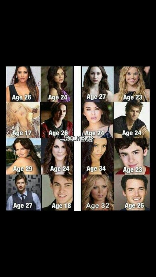 Pretty little liar. The characters real age.