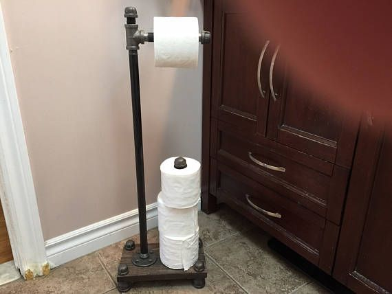 Industrial Style freestanding toilet paper holder