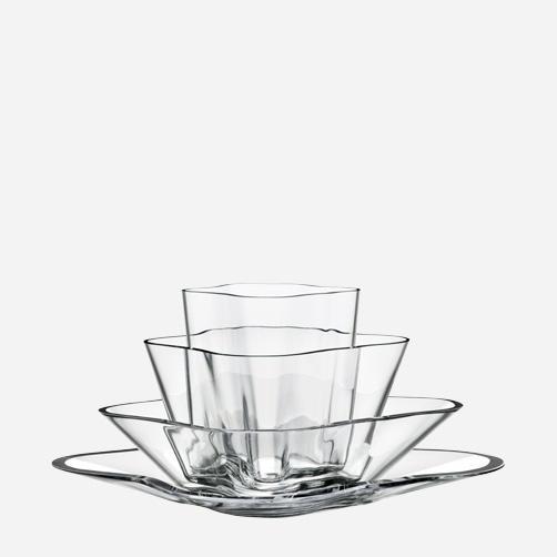 Alvar Aalto Iittala Aalto-flower (kukka) vase 180 x 360 mm, clear glass