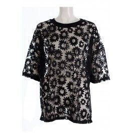 Paris Black Oversized Daisy Top BUY IT NOW £15 AT www.fuchia.co.uk