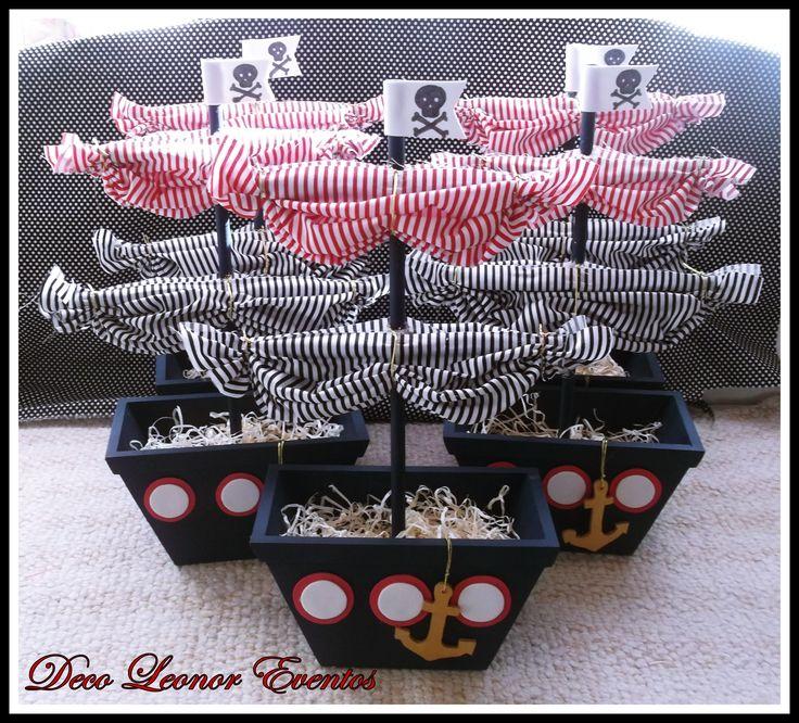 Barcos piratas -centros de mesa