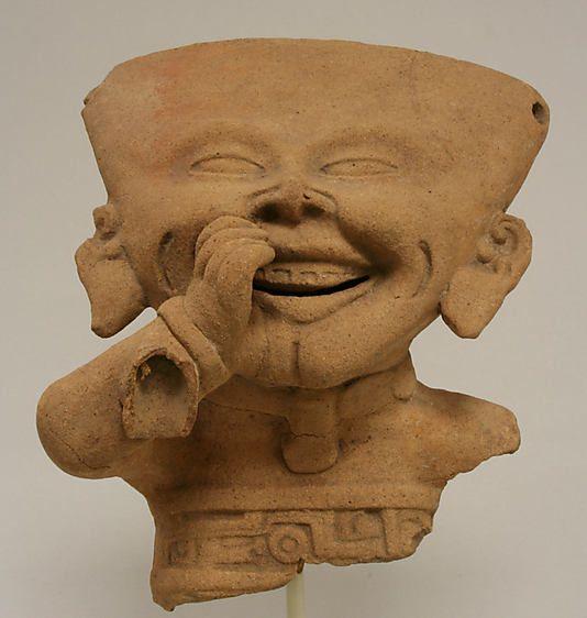 Fragmentary Smiling Figure  Date:     6th–9th century Geography:     Mexico, Mesoamerica, Veracruz Culture:     Remojadas Medium:     Ceramic