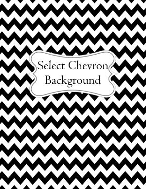 Binder Cover Maker with Chevron Background