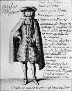 Male dress in Le Mercure Galant
