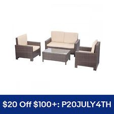 [$299.99 save 61%] 4pc PE Rattan Wicker Sofa Set Cushion Outdoor Patio Sofa Couch Furniture #LavaHot http://www.lavahotdeals.com/us/cheap/4pc-pe-rattan-wicker-sofa-set-cushion-outdoor/219639?utm_source=pinterest&utm_medium=rss&utm_campaign=at_lavahotdealsus