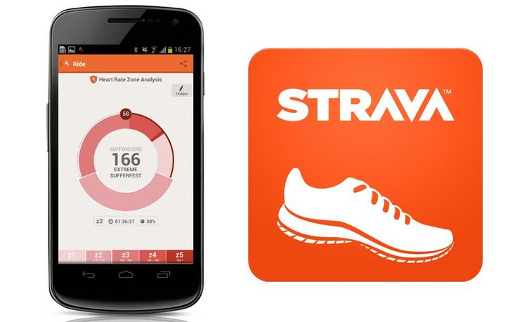 Strava app that tracks your excercise Just a gentle bit