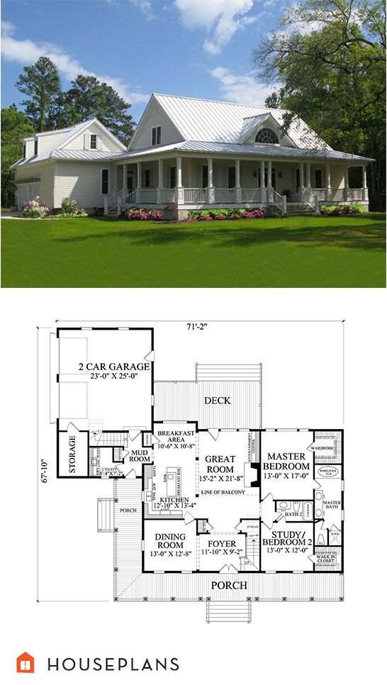 220 best images about farmhouse plans on pinterest for House plans with laundry room attached to master bedroom