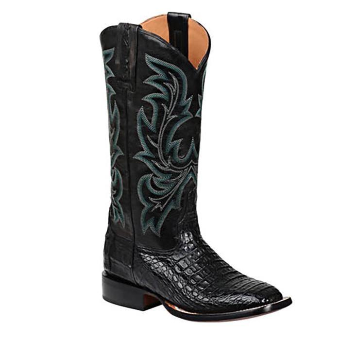 Lucchese Women's Georgia Black Caiman Boots