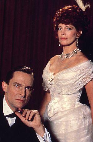 Irene Adler (Gayle Hunnicutt) in A SCANDAL IN BOHEMIA. - Sherlock Holmes - Jeremy Brett