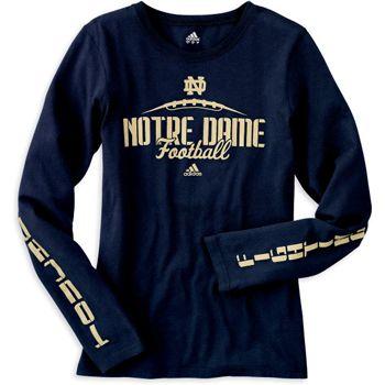 Women's Notre Dame Football Long Sleeve Tee
