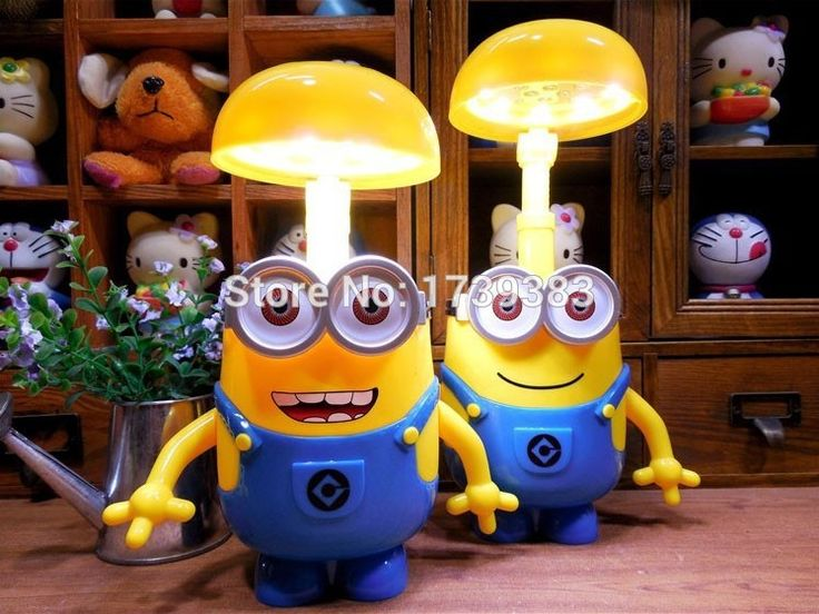 Novelty Despicable Me 16 Led Folding Head Led Desk Lamp Smiling Cartoon Minions Portable Baby Lamp Kids Gift Student Lamp With Images Led Desk Lamp Lamp Minions