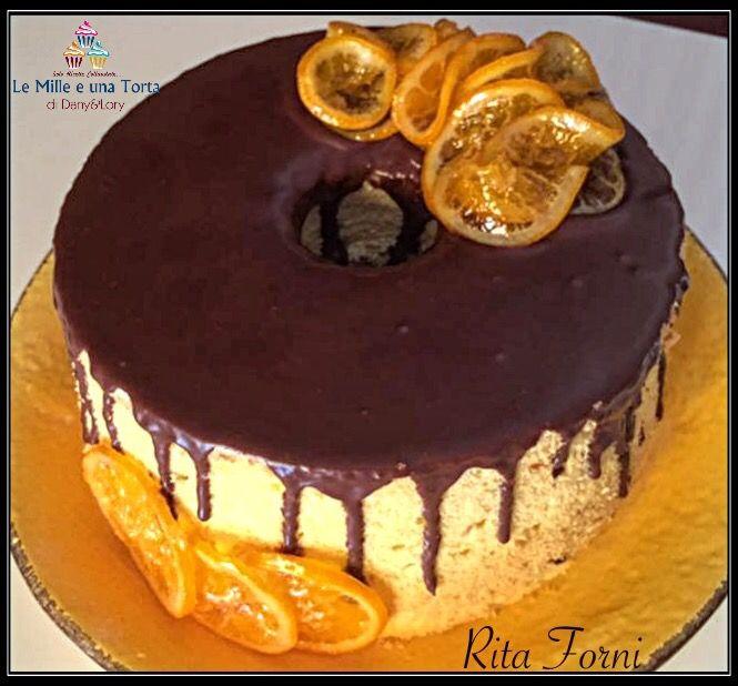 CHIFFON CAKE ALL'ARANCIA E GOCCE DI CIOCCOLATO -