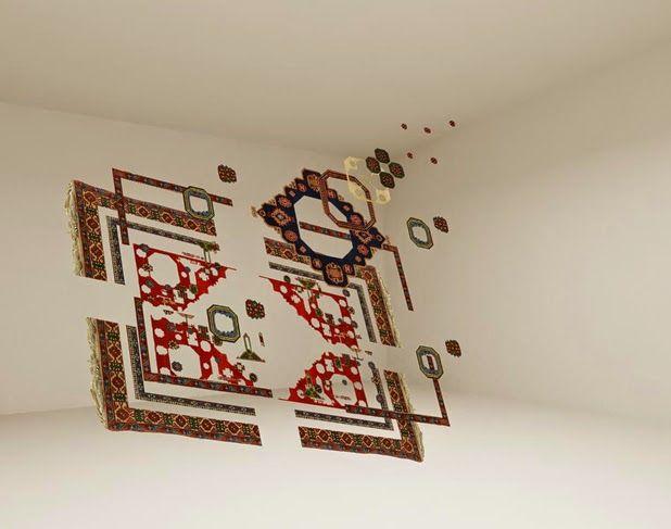 Handmade carpets by Faig Ahmed | http://ineedaguide.blogspot.it/2015/03/faig-ahmed-update.html #art #installation