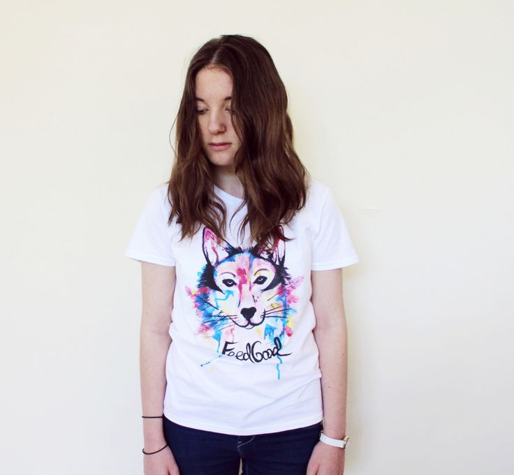 Wolf T-shirt // Watercolour Tee // Eco Friendly Wolf Tee // Native American Shirt // Unisex Sustainable TShirt by PrinceandTower on Etsy
