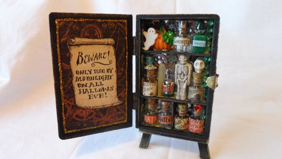 OOAK Graphic 45 Steampunk spells miniature by Nostalgiccrafter, £14.99