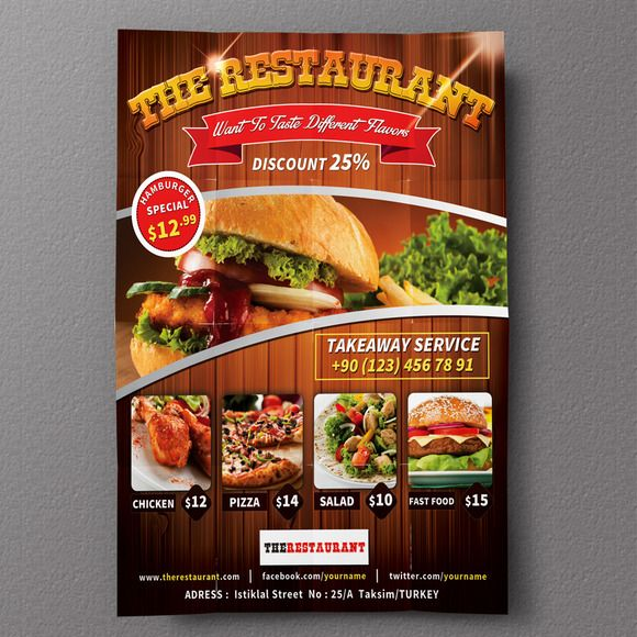Best Food Design Images On   Flyer Template Flyers