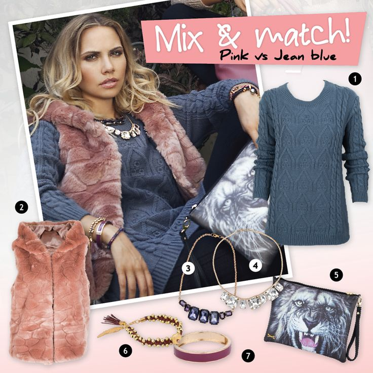 Achilleas accessories | Mix & match! Pink vs Jean blue