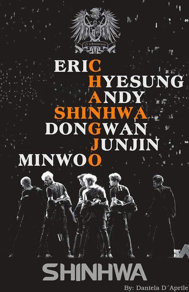 #shinhwa #membros #junjin #eric #hyesung #minwoo #dongwan #andy