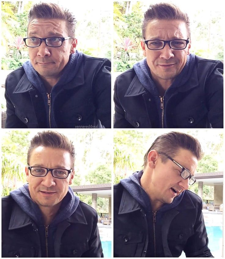 """252 Likes, 10 Comments - Just Jeremy Renner everywhere (@rennered4real) on Instagram: """"Wow.✨ The hair, the glasses, the hoodie... his smirk, his forehead crinkles, his cheeks! Is it…"""""""