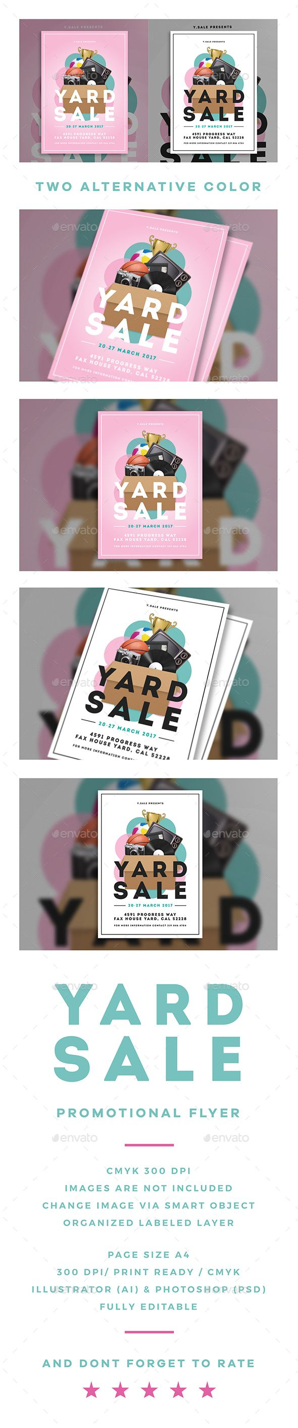 "Garage Sale Flyer You¡¯ve got a lot of unused things back home that you wanted to sell? and you¡¯ve been thinking that you need to do some garage sale at your place?? Need a flyer to tell people that you doing garage sale???Let this ¡°Garage Sale Flyer"" help you"