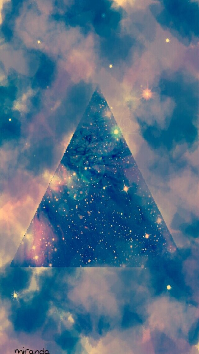 Triangle Galaxy wallpaper for iPhone5 via Cocopapa | Fonts ... Hipster Triangle Galaxy Wallpaper