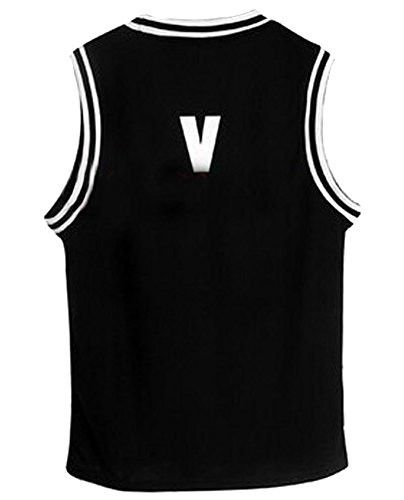 Kpop Bangtan Boy BTS Baseball Uniform Tank Top T-shirt Please note the size:Tag M=US XS-S;Tag L=US S-M;Tag XL=US M-L;Tag XXL=US L-XL Warm Notice: 1).It usually takes around 7-12 days for arrival, plea