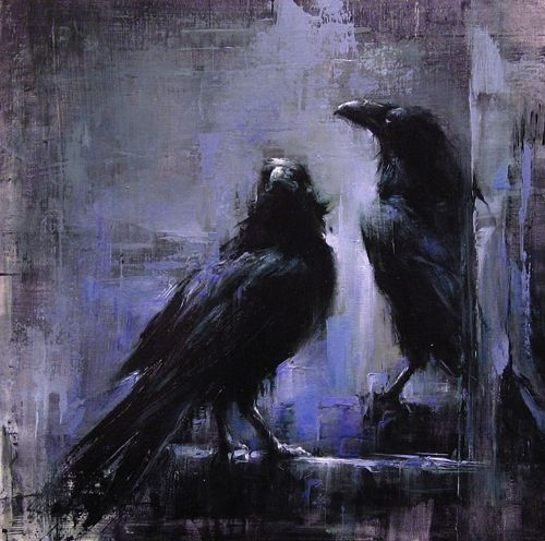 """""""Park Ravens"""" by Lindsey Kustusch. I love the contrast between sharp and blurry parts in this image. Like looking through a wet lens."""