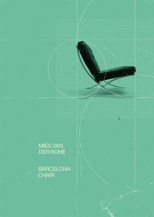 Barcelona Chair poster by Marius Roosendaal.