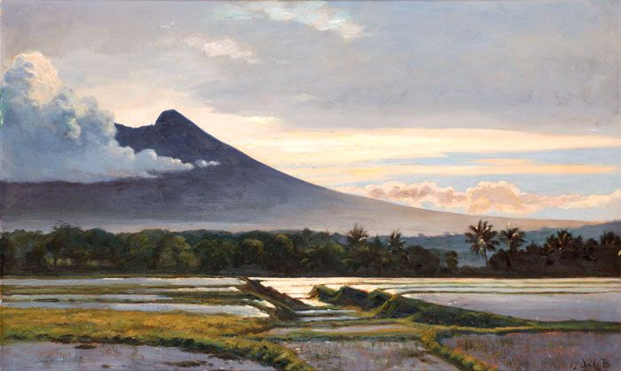 Carel Lodewijk Dake, Jr (Schaerbeek, 1886 – Jakarta, 1946) - Landscape