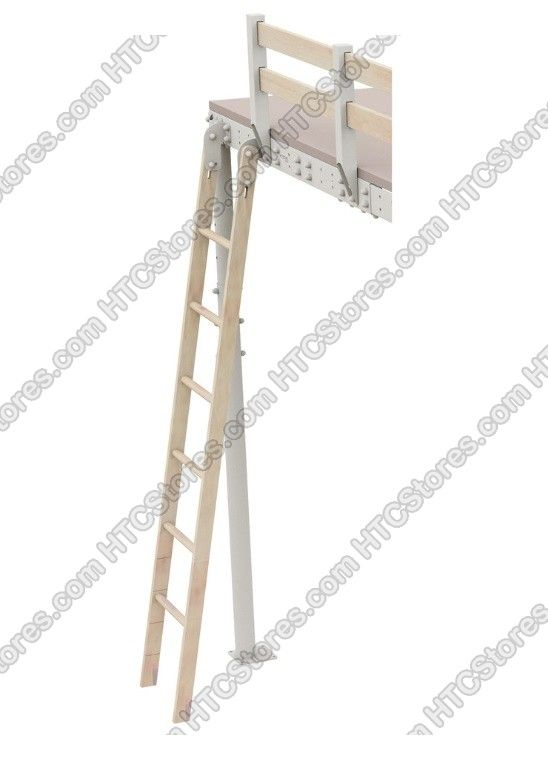 The Mezzanine Store Tecrostar Loft Bed Wooden Ladder Kit   Mezzanines In A  Box By The