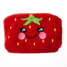 Reversable Pineapple and Strawberry Cosmetics Bag