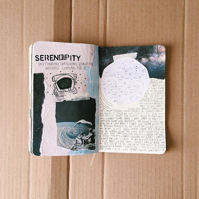WEBSTA @ journalbean - Excuse my many space-related spreads, I'm just so fascinated with our universe #artjournalinspo #journalspo #journalinspo #journaling #journal #journals #moleskine #sketchbook #sketch #space #artjournal