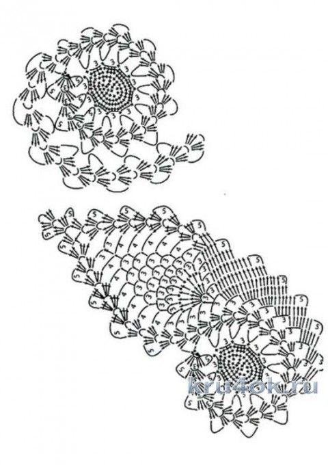 Жилет в технике ирландского кружева. Работа Любови вязание и схемы вязания