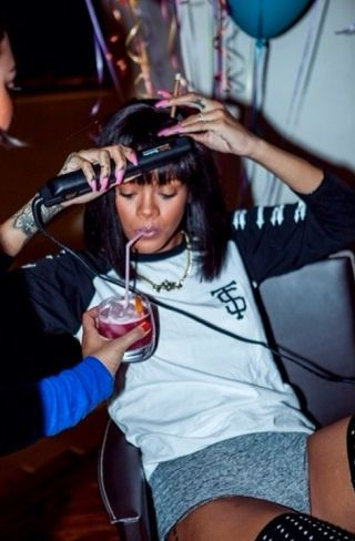 Very sad about the loss of Rihanna's Instagram May everyone remember what true life goals really are: doing your own damn hair while smoking a blunt and someone is holding a cocktail for you