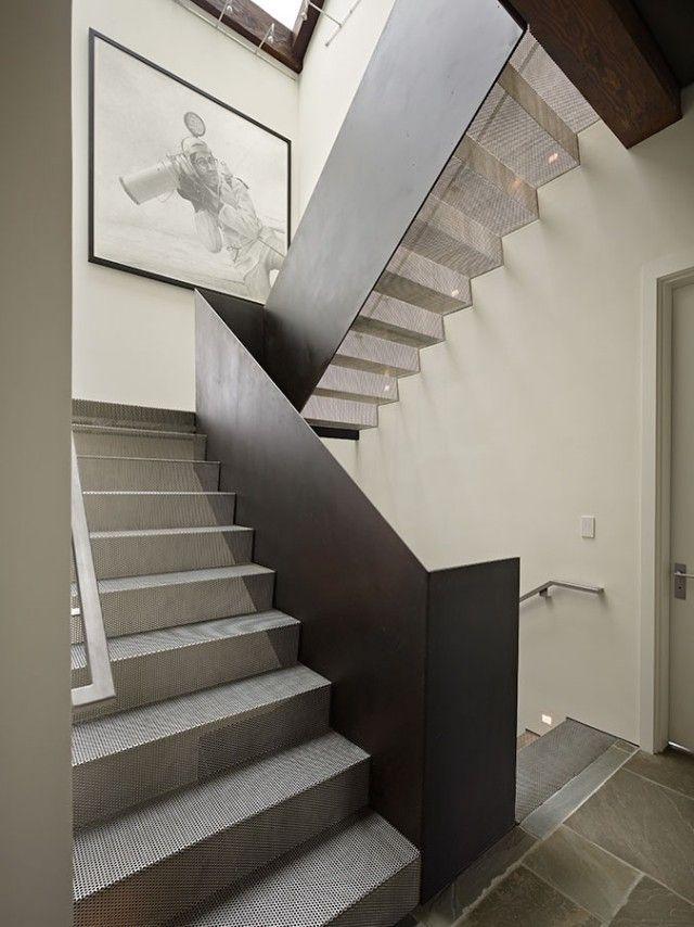 moderne innentreppe-design ideen-aus edelstahl