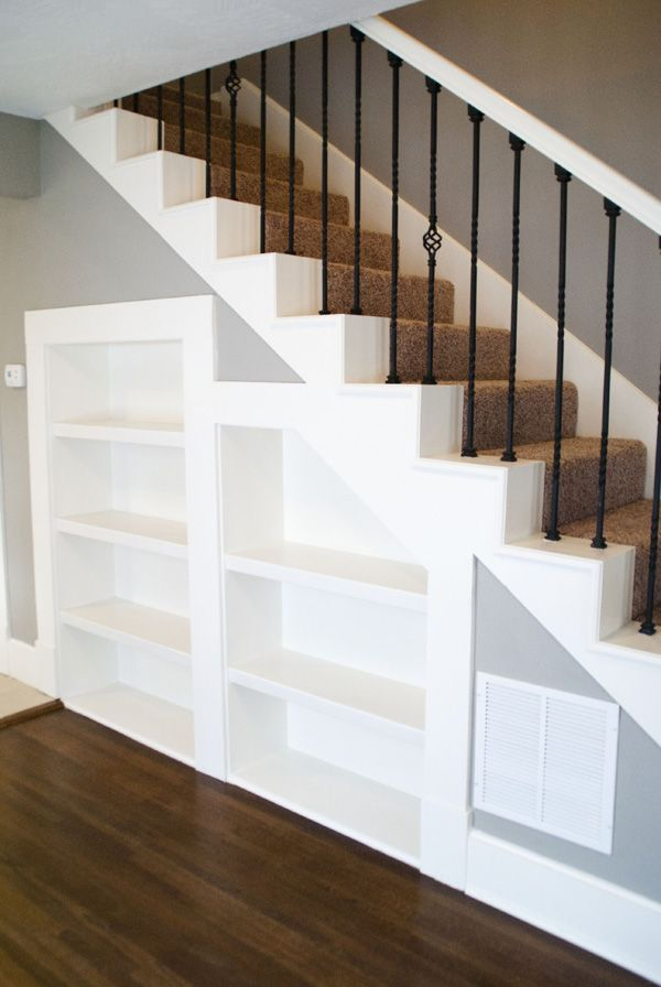 I love the floor color, wall color and the white railings with the black iron spindles.