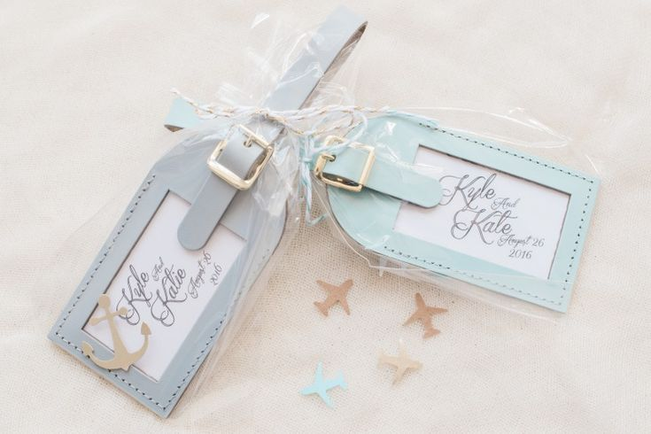 Custom Luggage Tag Wedding Favors  See more here: http://www.lovetravelsfavors.com/