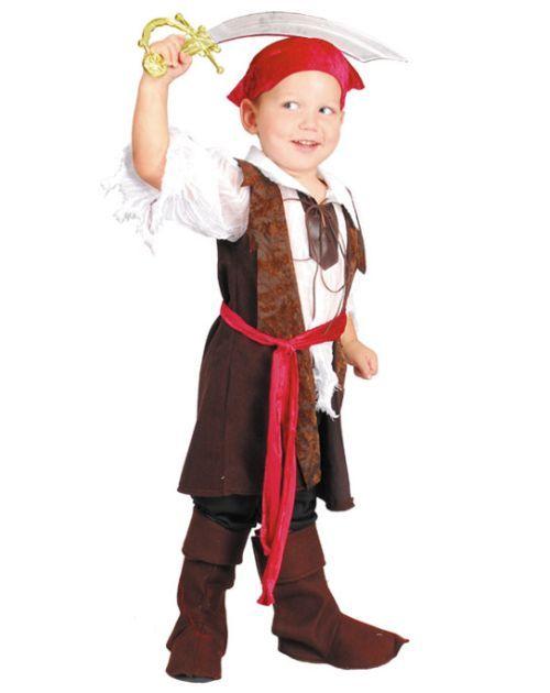Карнавальный костюм VENEZIANO 1049-3 Черный Корсар для мальчика 3 года