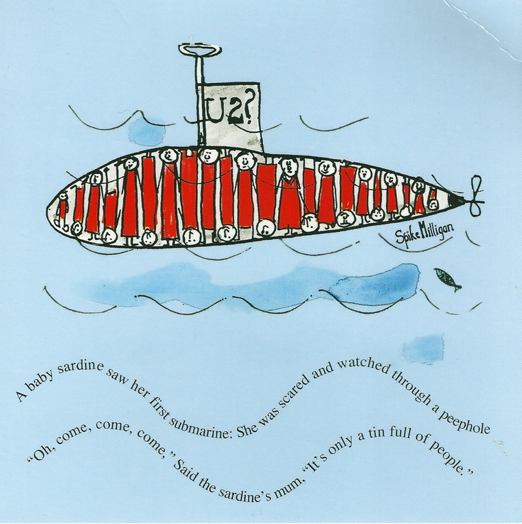 My favourite Spike Milligan poem, scanned from an old birthday card