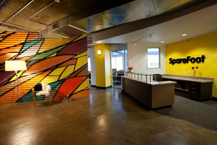 SpareFoot: Self-storage company SpareFoot recently moved into its first Austin office, and focused on creating an almost industrial style, with splashes of colour, to capture the flair as well as the utility of its service to customers. The huge space provides the company with ample room for expansion and growth into the future.